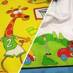Llençol infantil // Sábana infantil // Children sheet #teixitsbaig #tela #teixit #roba #ropa #llençol #sábana #sheet