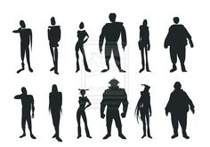 character silhouette practice by lushan.deviantart.com on @deviantART ★ || Please support the artists and studios featured here by buying this and other artworks in their official online stores • Find us on www.facebook.com/CharacterDesignReferences | www.pinterest.com/characterdesigh | www.characterdesignreferences.tumblr.com |  www.youtube.com/user/CharacterDesignTV and learn more about #concept #art #animation #anime #comics || ★