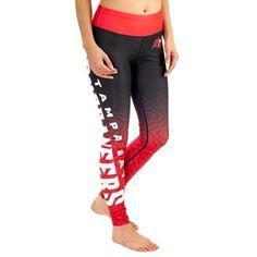 Women s Tampa Bay Buccaneers Red Gradient Leggings Nfl Football Teams 26599160bdb
