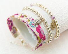 Liberty Silver Bracelet Trio - Bliss Pink Purple