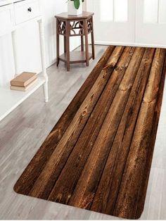 Wood Board Print Indoor Outdoor Area Rug