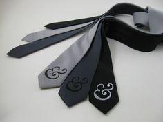 Ampersand Skinny Tie - Italic Style. $15.00, via Etsy.