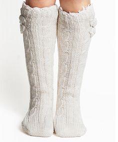 Look what I found on #zulily! Toast Angora-Blend Faux Fur Slipper Socks by Lemon Legwear #zulilyfinds