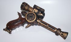 Michael Bielaczyc is raising funds for Steampunk Blaster Gun Prop on Kickstarter! I created this gun to go with my Steampunk Airship Costume and I want to make a mold of it and start selling them on my website. Steampunk Pistol, Steampunk Mechanic, Steampunk Airship, Dieselpunk, Kids Steampunk Costume, Steampunk Crafts, Steampunk Design, Steampunk Clothing, Leather Tooling Patterns