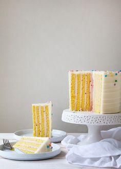 Vertical Stripe Cake