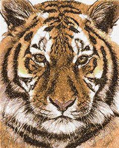 Tiger photo stitch free embroidery design 9 - Photo stitch embroidery - Machine embroidery forum