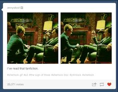 "People didn't know what to do with the things they were seeing on their screen. | Tumblr Reacts To ""Sherlock's"" ""The Sign Of Three"""