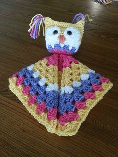 Craft Passions: Owl Cuddle Lovey..# free #Crochet   pattern link h...