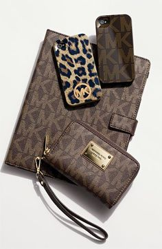MICHAEL Michael Kors...Stop it....I need all of this. Especially the leopard phone case cover.....