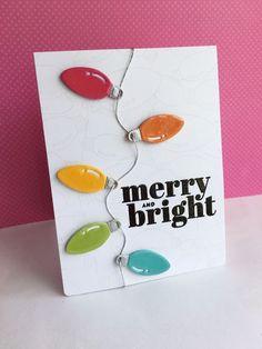 Christmas Card Sayings, Simple Christmas Cards, Merry Christmas Card, All Things Christmas, Handmade Christmas, Diy Christmas Lights, Christmas Light Bulbs, Christmas Rock, Merry Christmas Background