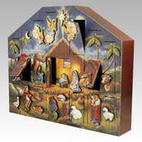 Nativity Wooden Heirloom Advent Calendar by Byers Choice
