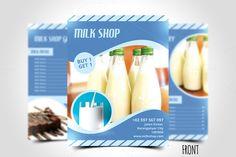 Milk Shop Flyer Template by meisuseno on @creativemarket