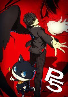 Artist: Domco | Shin Megami Tensei: Persona 5 | Morgana | Protagonist