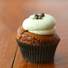 Voted Best bakery Burlington - Kelly's Bake Shoppe - Chocolate Mint Cupcake. gluten-Free and vegan too