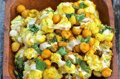 Curry Gewürz Gebratener Blumenkohl und Kichererbsen [Vegan, Glutenfrei] | One Green Planet