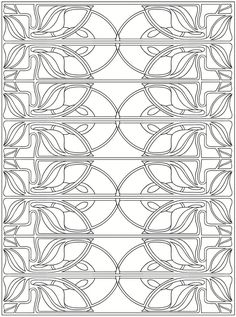 Creative Haven Art Nouveau Patterns Coloring Book