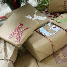 simpel cadeau papier met een persoonlijk tintje