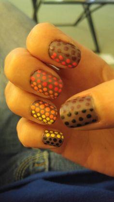 Fall color polka dots