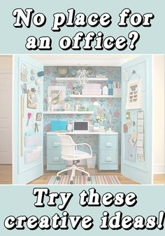 It's not usually reality that one gets their own sewing room, but a sewing closet is at least a tad closer to reality! Small Sewing Rooms, Sewing Spaces, Sewing Closet, Sewing Nook, Ideas Para Organizar, Diy Casa, Space Crafts, Craft Space, Craft Rooms