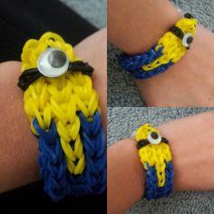 My minion rainbow-loom bracelet!!!