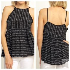 Tribal Print Flare Top Size MediumRuns true to sizePrice is firm Tops Tank Tops