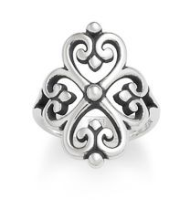 Adorned Hearts Ring at James Avery...wonder if I could put a gem stone in the center