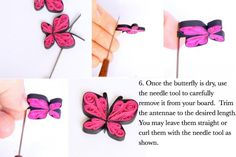 learn paper quilling and make these darling paper quilled butterflies with these easy to follow step by step paper quilling instructions