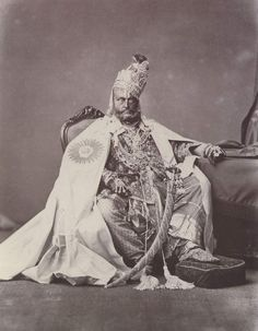 Maharajah of Riva, photo by Samuel Bourne, 1877
