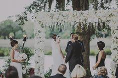 Floral Arch // Sean Flanigan // Magnolia Plantation - Charleston SC