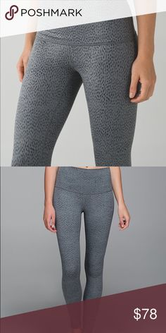 {lululemon} Dottie dash hi-rise wunder under A wonderful pair of full length wunder unders in a cute grey dappled print. They're in excellent condition :) I took off the rip tag but I know they're a size 2. More photos will be posted upon request. lululemon athletica Pants Leggings