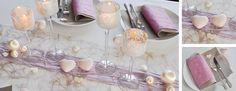 Tischdekoration zur Hochzeit Romanze in Pastell