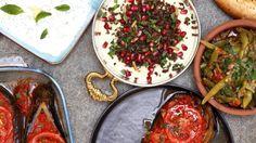 Kokken Vidar lærer deg å lage hummus, baba ganoush og muhammara.