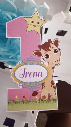 Arte impreso de Leoncito Alado. Centro de mesa. Cumpleaños de Irena 1.