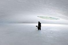 like the inside of a glacier