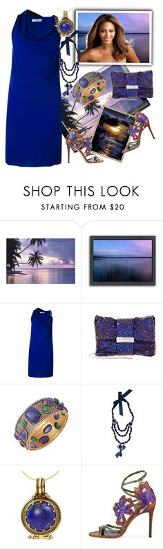 """Summer night in Gagra."" by m-kints ❤ liked on Polyvore featuring Americanflat, Lanvin, Jimmy Choo, Lassen and Your"