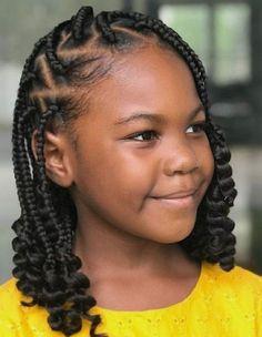 Lil Girl Hairstyles, Black Kids Hairstyles, Black Girl Braided Hairstyles, Natural Hairstyles For Kids, Box Braids Hairstyles, Natural Hair Styles, Long Hair Styles, Latest Hairstyles, Little Girl Braids