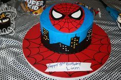 spiderman cake