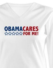 Obamacare is for me, and Obama cares for me! ©2012 Democrat Brand