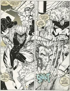 Wolverine and Sabertooth by Jim Lee