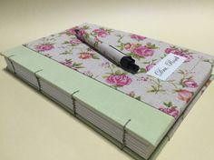 Essa estampa me encanta! #bookbinding #presentepersonalizado #linho #linen