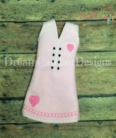 "ITH Small Doll/Elf Heart Dress Embroidery Design 12 "" Dolls | Dreamcatcher Designs"