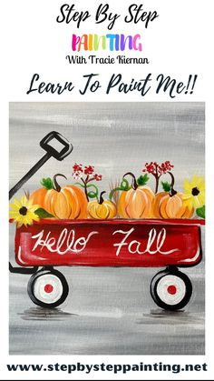 Fall Canvas Painting, Simple Canvas Paintings, Canvas Painting Tutorials, Diy Canvas Art, Painting Lessons, Easy Paintings, Painting For Kids, Painting & Drawing, Painting Classes