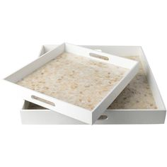 Made of Mother of Pearl Perfect accent to any decor Comes as a set of 2 Made in Vietnam #trays #furniture #accessories #Contemporary #Surya
