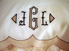 contemporary heirloom pillowcase close up