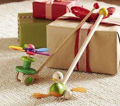 Duck & Flower Rainbow Push Toy   Pottery Barn Kids