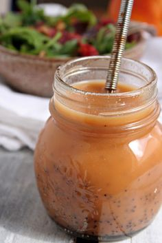 Orange Poppy Seed Dressing (made w/apple cider vinegar and honey.