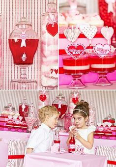 I Heart Valentine's Day Party - only, less pink, please. Maybe add some robins egg blue?