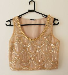 Beads Clothes, Diy Clothes, Clothes For Women, Diy Fashion, Fashion Looks, Fashion Outfits, Womens Fashion, Embroidery On Clothes, Saree Models