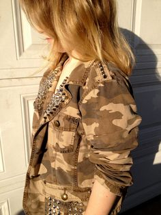 Camo Camouflage Military 160 Studs and Spikes