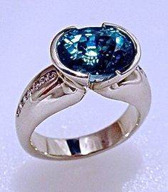 Natural, From the Earth Blue Zircon | RobertYoung.com